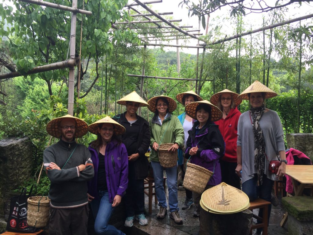Bi Luo Chun green tea garden. Group photo