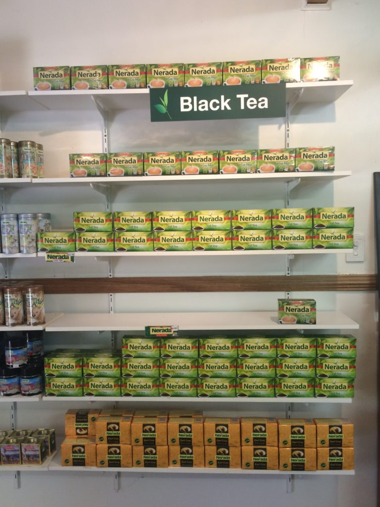 Nerada tea thelf in the Welcome centre