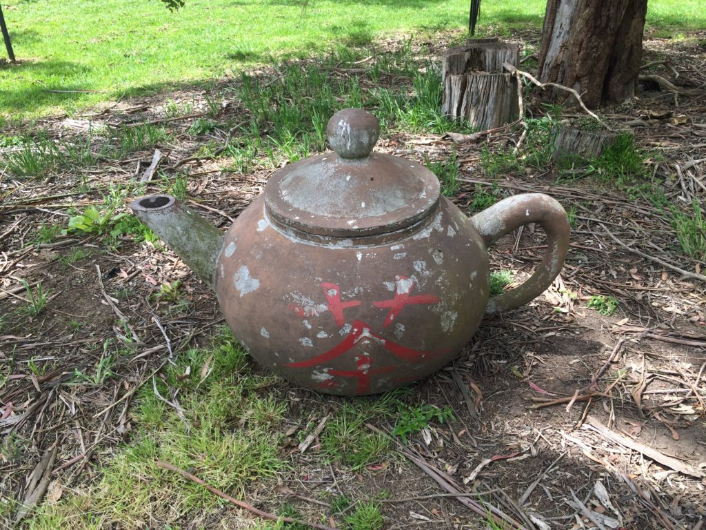 Beautiful big Yixing style teapot at Zealong tea estate