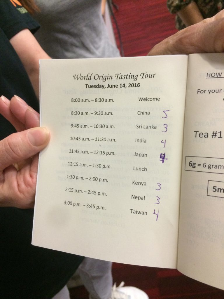 World Tea Expo: Der Time Table der Origin Tasting Tour